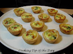 Mini Spinach &amp; Bacon Quiches