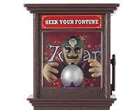 Switch adapted Zoltar Fortune Telling Machine.