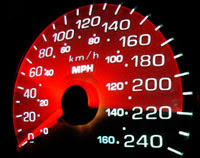 Accessible Gaming Shop - image of a car's speedometer.