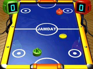 Image of EA Air Hockey - one button mobile phone game.