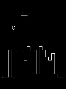 Vectrex one switch game - City Bomber.
