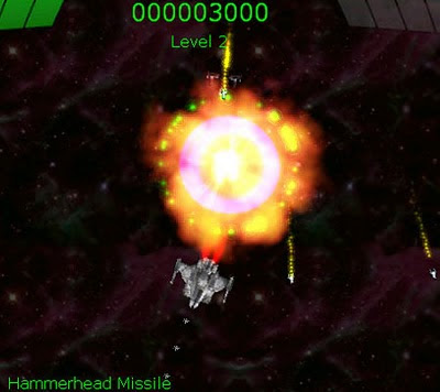 Image of Aurikon a one-switch space shoot-em-up.
