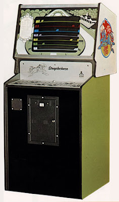 Image of Atari's 1975 Arcade Video Game - Steeple Chase.
