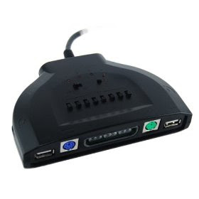 Image of black plastic controller adapter.