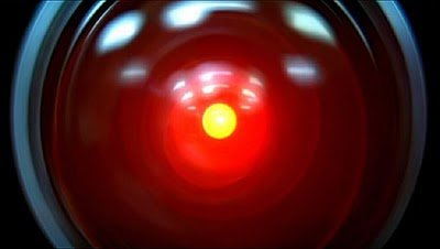 Image of HAL's electronic eye from the film 2001.