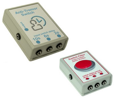Dream-Technology Accessibility Switch Modules: Anti-Tremor Switch and Switch Filter.
