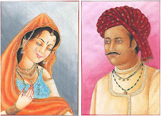 rajasthani gentleman with his shy wife