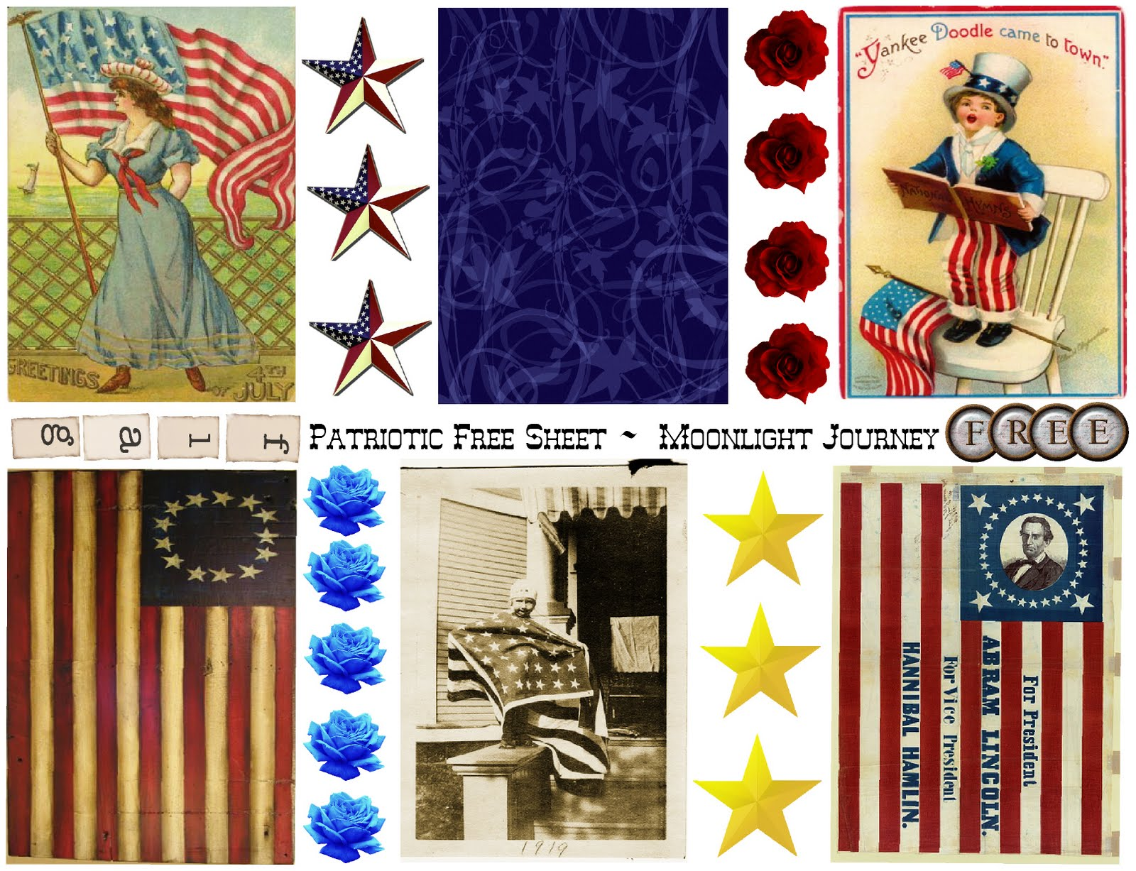 To all of my wonderful blogger friends here is a free patriotic collage ...