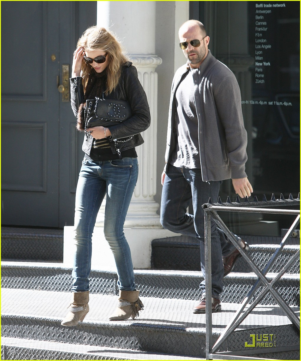Rosie huntington whiteley e jason statham no lax