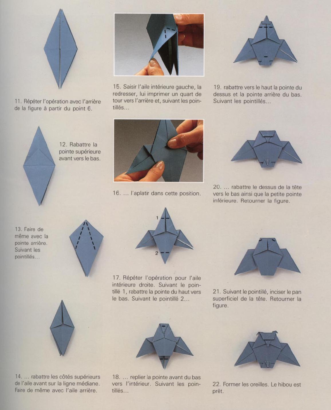 Buho origami paso a paso imagenes vestiditos de - Papiroflexia paso a paso ...
