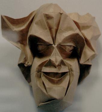 Una Calabaza De Marc Kirschenbaum Y Dos Mascaras Eric Joisel La Primera Parece Mascara Su Propio Rostro Otra Corresponde A Cara Nick