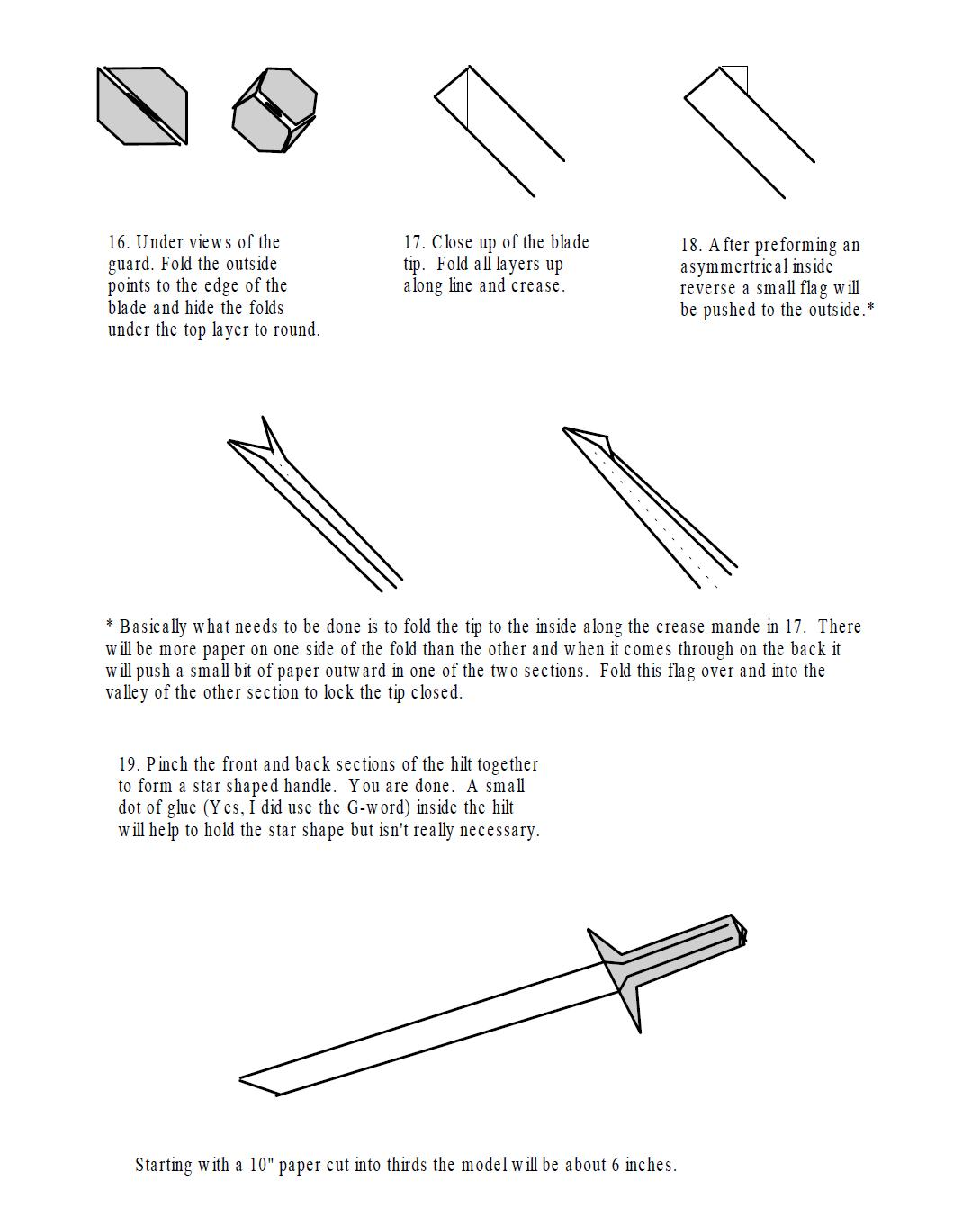 Origami Katana Tutorial Handmade How To Fold An Samurai Sword Choice Image Craft Decoration Ideas