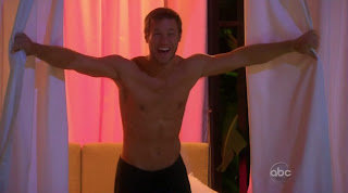 Jake Pavelka Shirtless on The Bachelor: On The Wings of Love episode 2