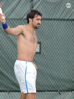 Nenad Zimonjic Shirtless at Cincinnati Open 2009