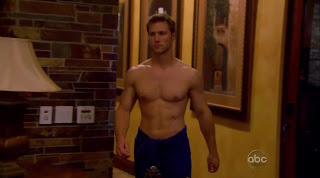 Jake Pavelka Shirtless on The Bachelor: On The Wings of Love episode 3