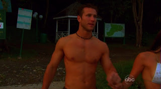 Jake Pavelka Shirtless on Bachelor On The Wings of Love episode 7