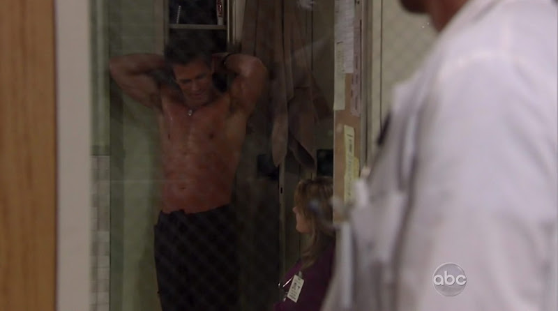 Scott Reeves Shirtless on General Hospital 20100518