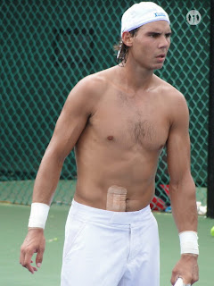 Rafael Nadal Shirtless at Cincinnati Open 2009