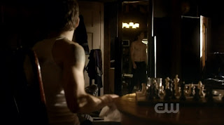 Paul Wesley and Ian Somerhalder Shirtless on Vampire Diaries s1e04