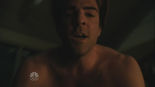 Zachary Quinto Shirtless on Heroes s4e06
