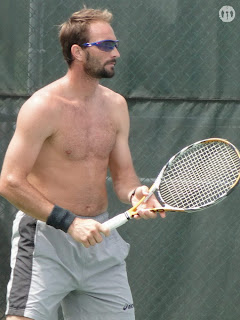 Dusan Vemic Shirtless at Cincinnati Open 2009