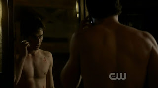 Ian Somerhalder Shirtless on Vampire Diaries s1e10