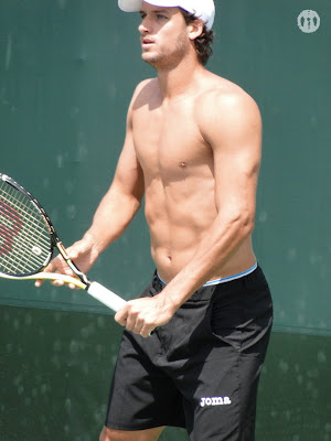 Feliciano Lopez Shirtless at Miami Open 2010