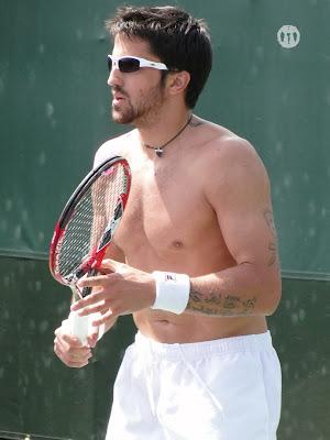 Janko Tipsarevic Shirtless at Miami Open 2010