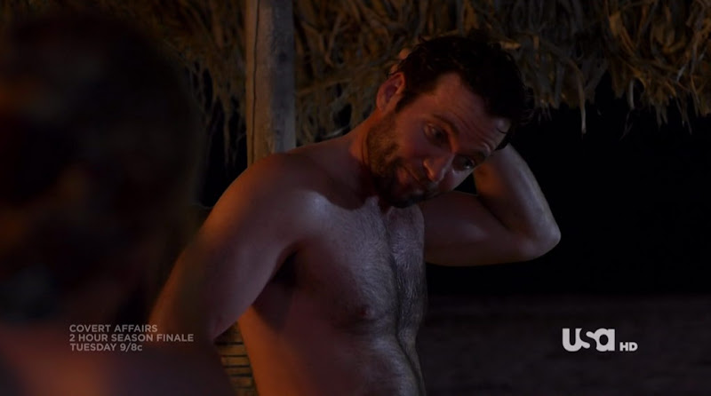 Eion Bailey Shirtless on Covert Affairs s1e09