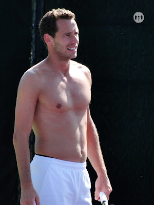 Michael Llodra Shirtless at Miami Open 2010