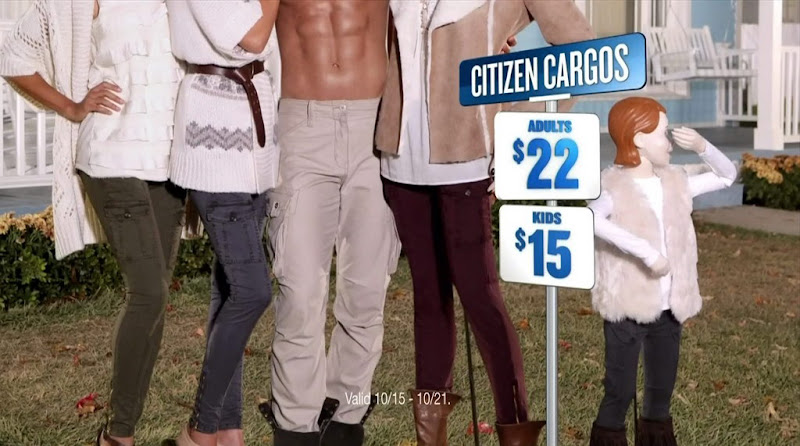 Shirtless Guy in Old Navy Citizen Cargos Commercial
