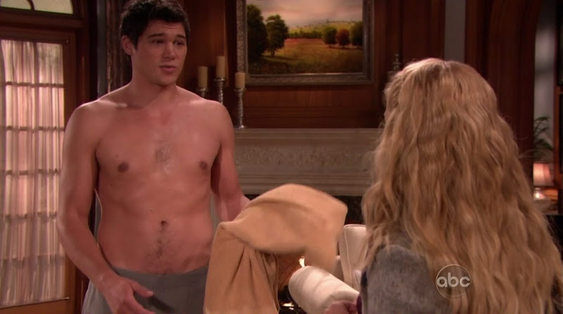 Trent Garrett Shirtless on All My Children 20101203