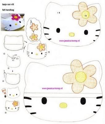 si quereis hacer unos peluchillos de Kitty:
