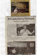 GUARDA JÂNIO FOI DESTAQUE NA IV CONFERÊNCIA NACIONAL .