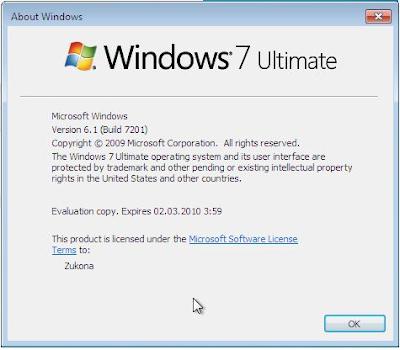 Windows 7 RC2 build 7201