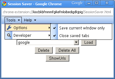 Download Google Chrome Session Saver (Restore) extension/addon /Addon