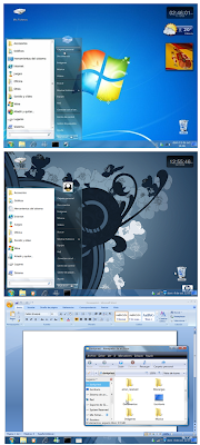 Transform ubuntu (Linux) to windows 7 with Windows 7 Transformation Pack For Ubuntu