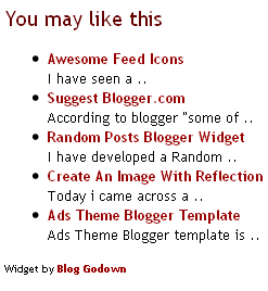 random posts widget with summary Random Posts Blogger Widget