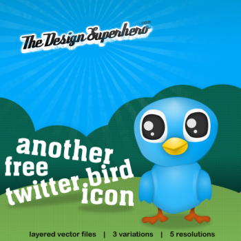 twitter bird by design superhero, 400+ Beautiful Twitter Icons for your Website