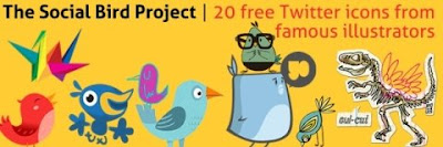 twitter icons from famous illustrators 400+ Beautiful Twitter Icons for your Website