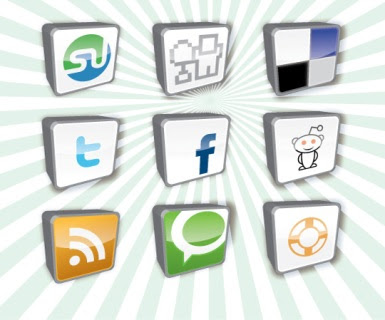 Vector Social Bookmarking icons set