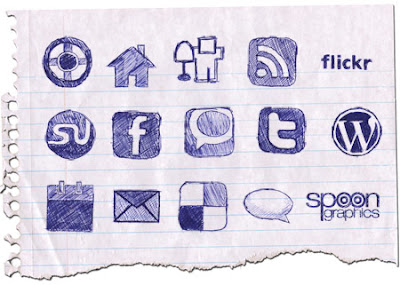 doodle social bookmarking icons Over 70 Beautiful Free Social Bookmarking Icon Sets