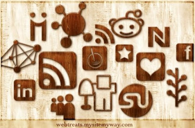 120  608x608 01 glossy waxed wood social bookmarking icons webtreats preview 75 Beautiful Free Social Bookmarking Icon Sets