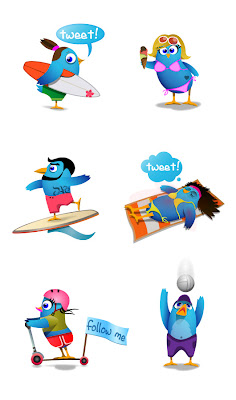 Elmastudio Twitter Icons beach large preview 350+ Fresh Twitter Icons