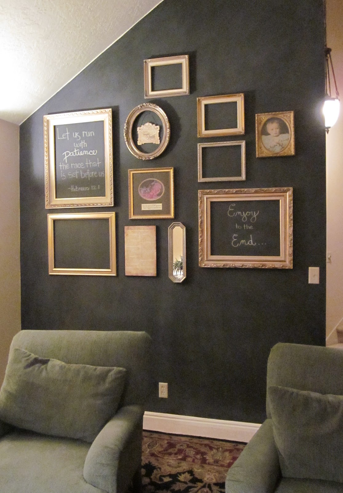 honey i 39 m home my art chalkboard wall is finished