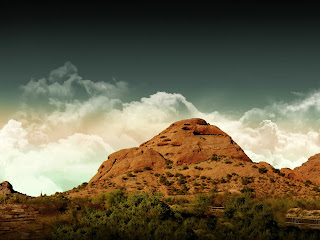 Red Hill Landscape Nature HD Wallpaper