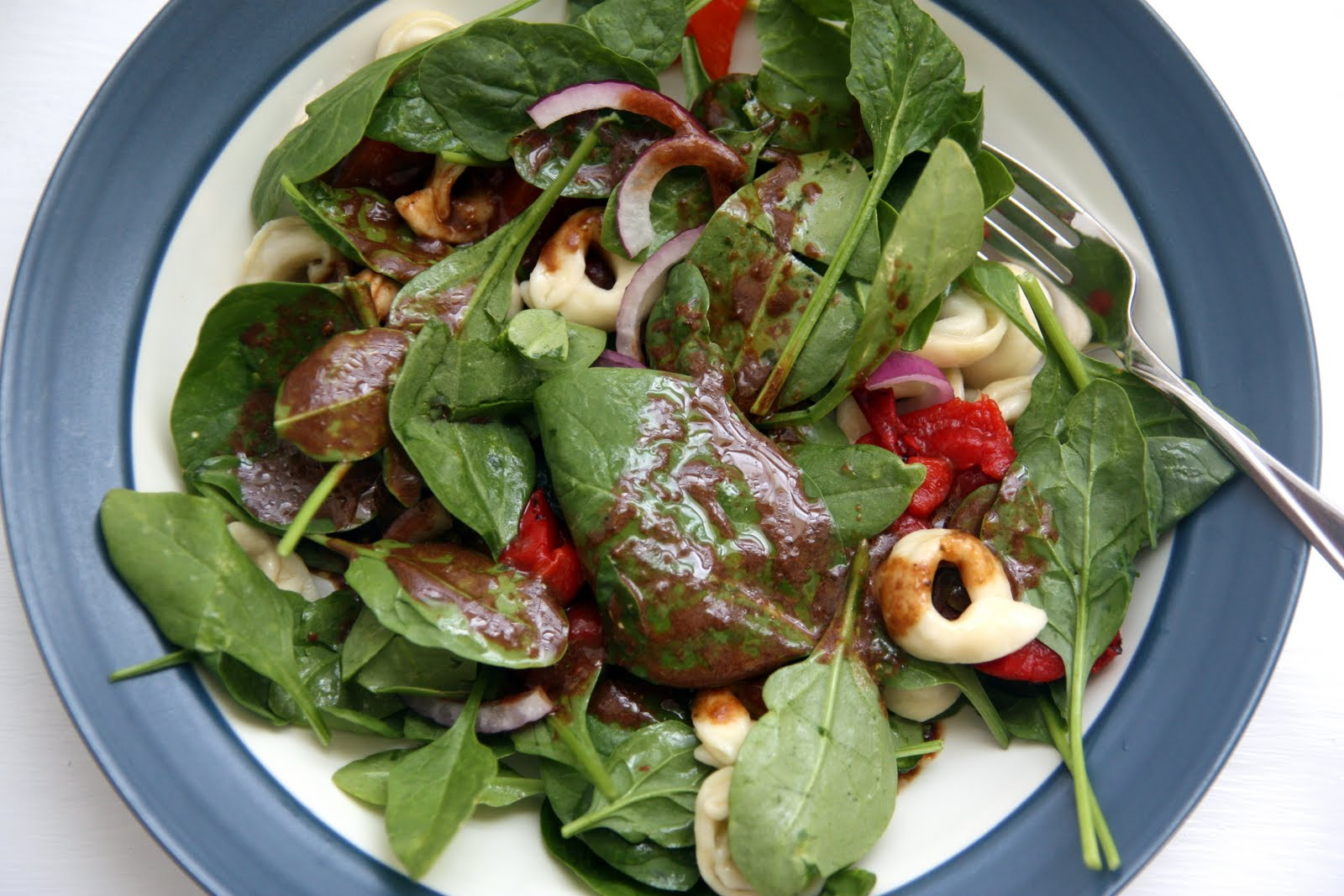 ... Kitchen: Tortellini Spinach Salad with Tomato Balsamic Dressing