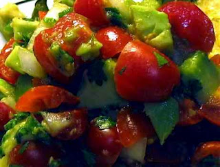 tomato and avocado salsa: a basic salsa recipe of deliciousness