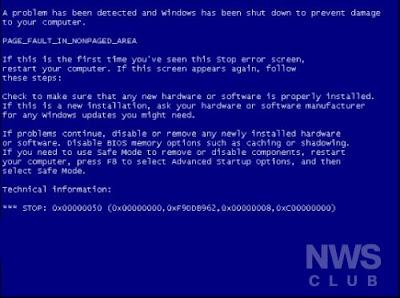Pantallazo azul en Windows.. como resorverlo.