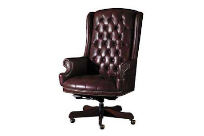 Burgundy Swivel Chair from Hekman